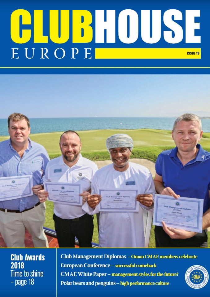 magazine of the Club Managers Association of Europe